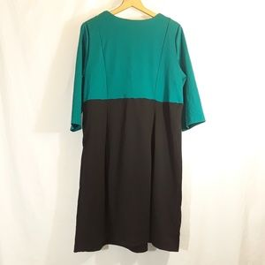 Lane Bryant Dresses - NWT Lane Bryant Dress Green Top Black Bottom